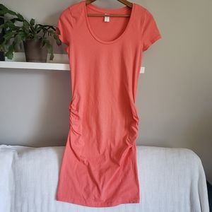 Old Navy Coral Pink Body Con Maternity Dress S
